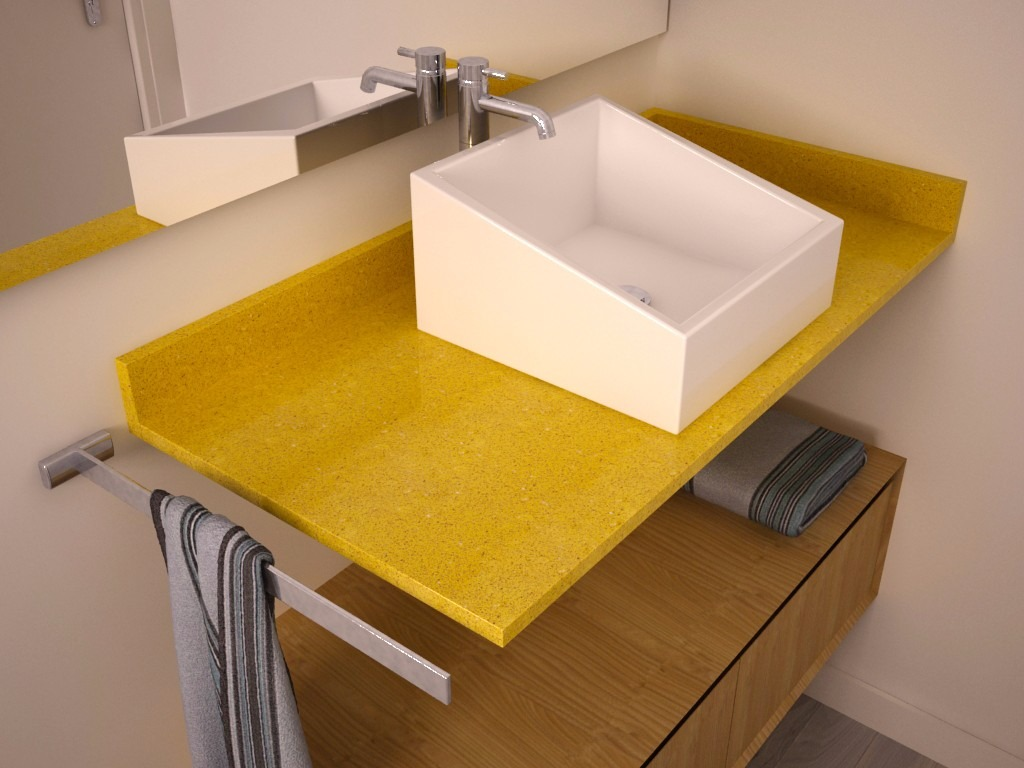 Silestone Pias e acessorios em silestone para sua casa decore sua  #B88A13 1024x768 Banheiro Amarelo E Cinza